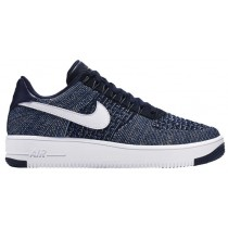 Nike Air Force 1 Ultra Flyknit Low Obsidian/Weiß/Blau/Rein Platin Herren Basketball