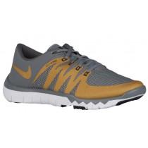 Herren Nike Free Trainer 5.0 V6 Cool Grau/Weiß/Schwarz/Metallic Gold Turnschuhe