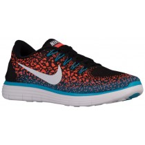 Nike Free Rn Distance Schwarz/Weiß/Hyper Orange/Blau Lagoon Herren Runningschuh