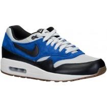 Nike Air Max 1 Essential Herren Sportschuhe Grau Mist/Schwarz/Lyon Blau