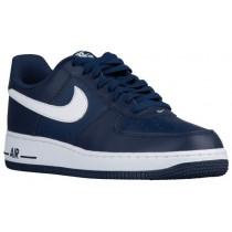Herren Nike Air Force 1 Low Weiß-Midnacht Marine Sportschuhe
