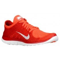 Nike Free 4.0 Flyknit Hell Crimson/University Rot/Gesamt Orange/Weiß Herrenschuh