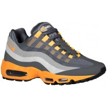 Nike Air Max 95 No Sew Herren Sneakers Dunkel Grau/Cool Grau/Silber/Laser Orange