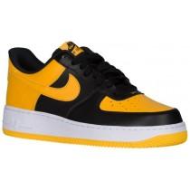 Herren Nike Air Force 1 Low Schwarz/Gold/Weiß Sportschuhe