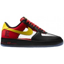 Nike Air Force 1 Comfort Schwarz/Tour Gelb/University Rot Herren Basketball