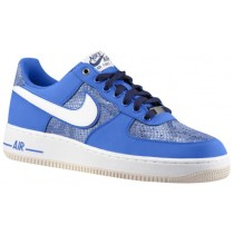 Nike Air Force 1 Low Nubuck Game Royal/Schwarz Blau Herren Sportschuheschuhe