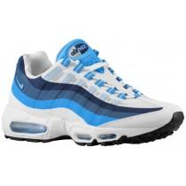 Nike Air Max 95 No Sew Herren Running Schuhe Weiß/Foto Blau/New Schiefer/University Blau