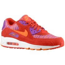 Nike Air Max 90 Herren Turnschuhe Licht Crimson/Gesamt Orange/Laser Perle