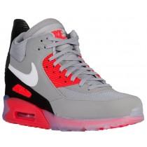 Nike Air Max 90 Sneakerboot Ice Wolf Grau/Anthrazit/Infrarot/Weiß Herren Sneakers
