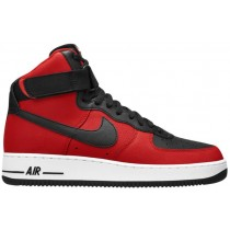 Nike Air Force 1 High 07 Leather Herren Sportschuheschuhe Schwarz/University Rot