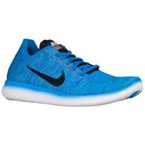 Nike Free Rn Flyknit Herren Laufschuhe Foto Blau/Gamma Blau/Gesamt Orange/Schwarz