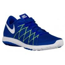Nike Flex Fury 2 Herren Running Schuhe Rennfahrer Blau/Volt/Dunkel Royal Blau/Weiß