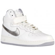 Nike Air Force 1 High Retro Herren Sneakers Summit Weiß/Wolf Grau