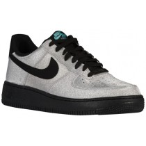 Herren Nike Air Force 1 Lv8 Metallic Silber/Schwarz/Aqua Basketball