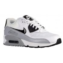 Nike Air Max 90 Essentials Weiß/Schwarz/Wolf Grau Damen Sneakers