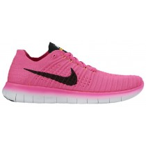 Damen Nike Free Rn Flyknit Rosa Blast/Laser Orange/Hyper Punch/Schwarz Runningschuh
