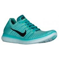 Damen Nike Free Rn Flyknit Hyper Türkis/Volt/Rio Knickente/Schwarz Schuhschaft