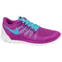 Nike Free 5.0 2014 Fuchsie Blitzen/Deutlichwater/Weiß Damen Laufschuhe