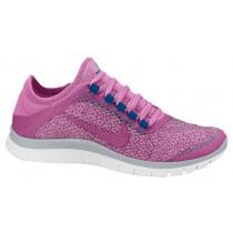 Nike Free 3.0 V5 Ext Wolf Grau/Rot Violett/Anthrazit/Grün Abgrund Damen Trainingsschuhe
