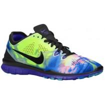 Nike Free 5.0 Tr Fit 5 Print Schwarz/Violett/Foto Blau Damen Laufschuhe