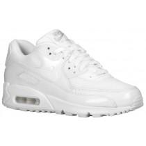 Damen Nike Air Max 90 Weiß/Metallic Silber Sportschuhe