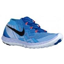 Nike Free 3.0 Flyknit Rennfahrer Blau/University Blau/Blau Tönung/Schwarz Damen Sneakers