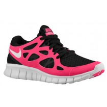 Nike Free Run + 2 Damen Sneakers Schwarz/Weiß/Kirsch-
