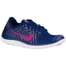 Nike Free 4.0 Flyknit Mutig Blau/Fuchsie Glühen/Game Royal Damen Trainingsschuhe