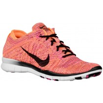 Nike Free Tr 5 Flyknit Hell Zitrusfrucht/Rosa Pow/Schwarz Damen Runningschuh