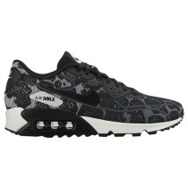 Nike Air Max 90 Jacquard Dunkel Grau/Rein Platin/Summit Weiß/Schwarz Damen Sneakers