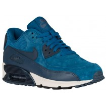 Nike Air Max 90 Leather Brigade Blau/Metallic Waffenkammer Marine/Geschwader Blau Damen Sneakers