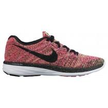 Nike Flyknit Lunar 3 Ghost Grün/Schwarz/Rosa Folie Damen Running Schuhe
