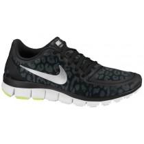 Nike Free 5.0 V4 Schwarz/Anthrazit/Volt/Metallic Silber Damen Sneakers