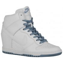 Nike Dunk Sky Hi Essential/Wedge Damen Sportschuhe Weiß/Taube Grau