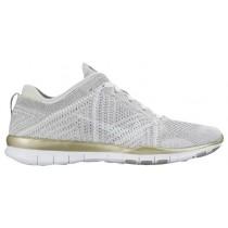 Nike Free Tr 5 Flyknit Rein Platin/Weiß/Metallic Gold Damen Sneakers