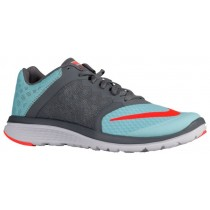 Nike Fs Lite Run 3 Damen Sneakers Copa/Cool Grau/Weiß/Hyper Orange