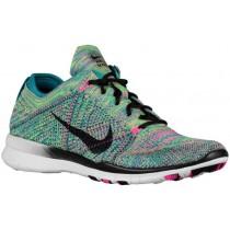 Nike Free Tr 5 Flyknit Strahlend Smaragd/Rosa Pow/Schwarz Damen Sneakersnstuff