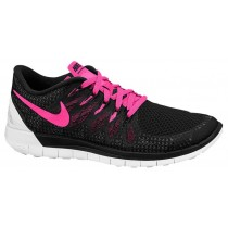 Nike Free 5.0 2014 Damen Laufschuhe Schwarz/Rosa Pow/Weiß