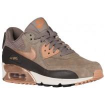 Nike Air Max 90 Leather Eisern/Metallic Rot Bronze/Dunkel Sturm/Sail Damen Sneakers