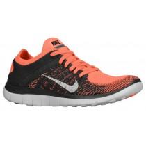 Nike Free 4.0 Flyknit Damen Running Schuhe Hell Mango/Midnacht Fog/Weiß
