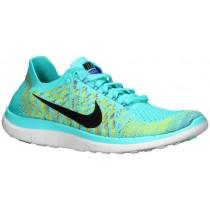 Nike Free 4.0 Flyknit Hyper Türkis/Persisch Violett/Elektrisch Grün Damen Running Schuhe