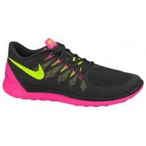 Nike Free 5.0 2014 Damen Sneakers Schwarz/Hyper Rosa/Anthrazit/Volt
