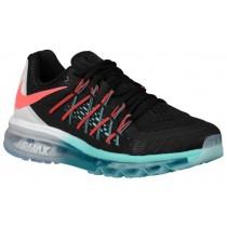 Nike Air Max 2015 Schwarz/Weiß/Licht Aqua/Hot Lava Damen Laufschuhe