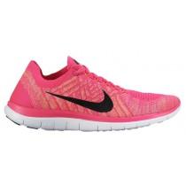 Nike Free 4.0 Flyknit Rosa Folie/Schwarz/Sonnenuntergang Glühen Damen Trainingsschuhe