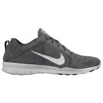 Nike Free Tr 5 Flyknit Dunkel Grau/Rein Platin/Metallic Silber Damen Runningschuh