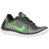 Nike Free 4.0 Flyknit Dunkel Grau/Voltage Grün/Ghost Grün Damen Running Schuhe