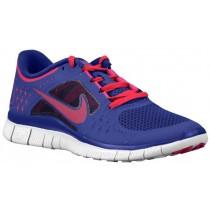 Damen Nike Free Run + 3 Nacht Blau/Rein Platin/Feuerberry Laufschuhe
