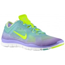 Nike Free 5.0 Tr Fit 4 Damen Damenschuhe Diffundiert Jade/Atomar Violett/Weiß/Volt