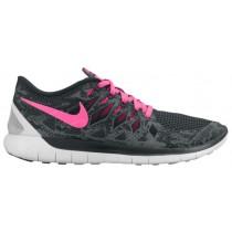 Nike Free 5.0 2014 Damenschuhe Anthrazit/Hyper Rosa/Schwarz