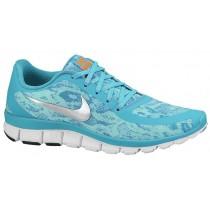 Nike Free 5.0 V4 Stauby Kaktus/Bleached Türkis/Weiß/Met Silber Damen Sneakers